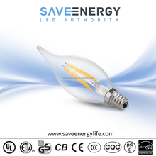 Filament Light Bulb, 4W 96lm/w Led Filament Light Bulb Manufacturer, UL ES FCC E12 E26 Clear Cover Bulb Filament