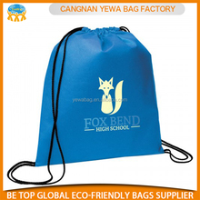 Good quality factory directly promotion fashion polyester drawstring bags/backpack