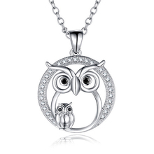KENYON N006 Unique Design Owl Pendant White Gold Plated Choker Necklace Animal Chain Jewellery