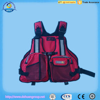 fishing vest with PVC coating