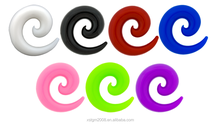Good quality Silicone ear Spirals Ear Plugs body jewelry