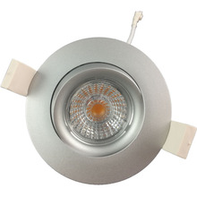 warm white2700k 3000k 9w recessed gyro quality cob led downlight dimmable with 83mm cut hole ip44 fast wiring and install