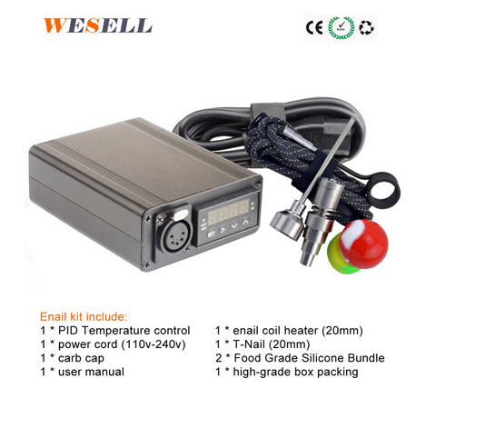 2016 e nail black 110V/220v 100W <strong>k</strong> type classic mini enail/d nail With PID temperture controller