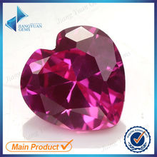 Fashionable Rose red heart Synthetic Ruby Gemstone