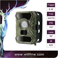 Willfine Camouflage Hunting Camera Infrared MMS Mobile IR Trail Scouting Hunting Game Camera