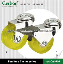 yellow PP castor and wheel