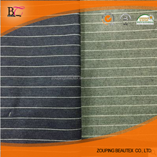 Cotton polyester spandex stretch striped denim fabric for jeans