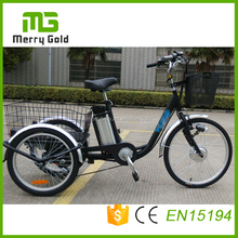 Best price steel frame 24'' cargo adult trike/electric pedal tricycle for sale