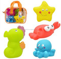 PVC Ocean Animal figures bath toys,pvc Baby bath toy floating animals,sea squirt,plastic animal sets bath toy for children
