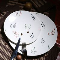 Wholesale hotel use ceramic round steak plate 100% melamine charger plate