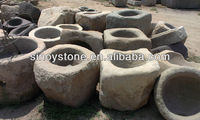 Various antique used stone trough