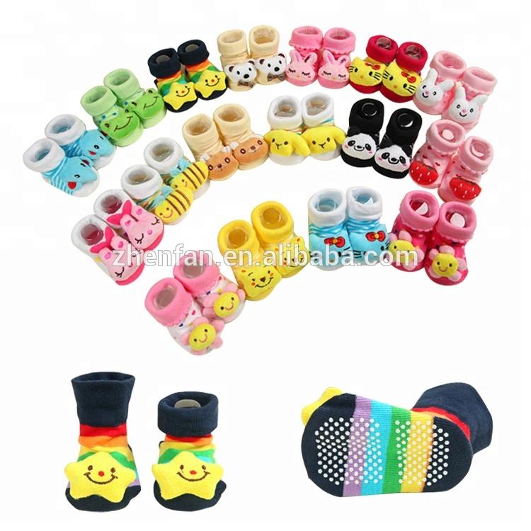 Multi shape Soft Toy Animal Baby Infant Kids Hands Wrist Bells Foot Sock FY