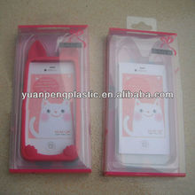 clear plastic box with blister tray for phone case, pvc pet pp box for phone case