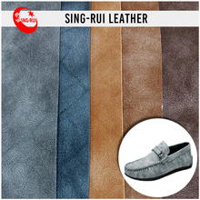 Retro Soft Cow Leather Printing Backing PU For Shoes