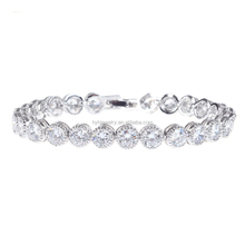 Elegance Women Accessories White Zircon Bracelet Fashion Wedding Bracelet Jewelry