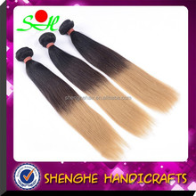 7A grade silky straight peruvian 1b 27 ombre color hair extensions