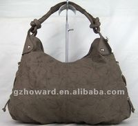 HOT handbag 2013 Lady fashion PU leather Embroidery Tote Bags
