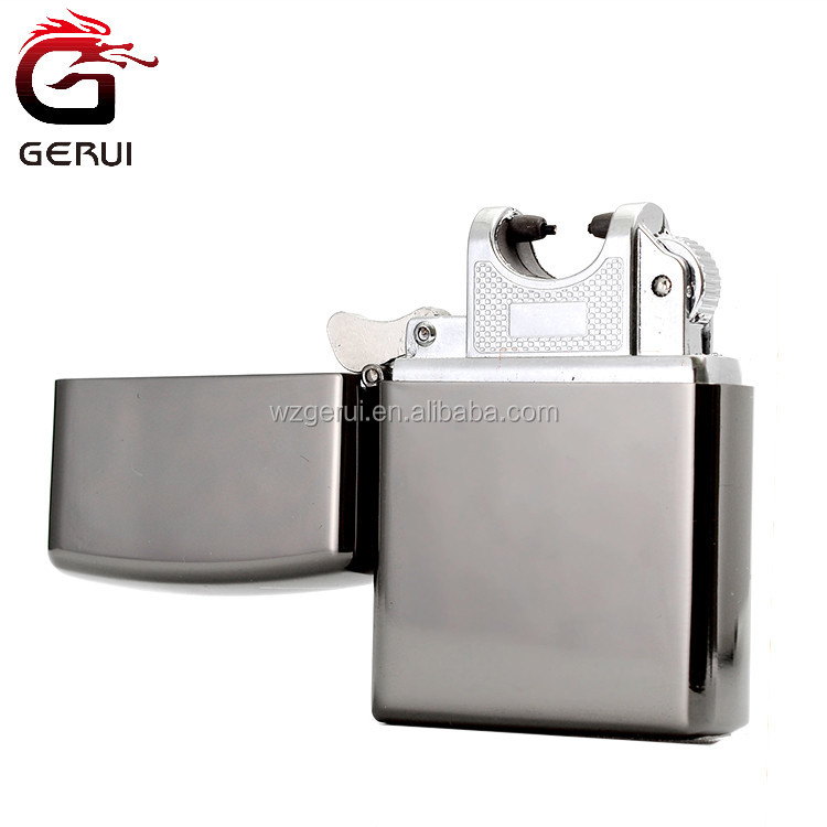 Gerui Rechargeable single arc USB cigarette lighter china lighter factories