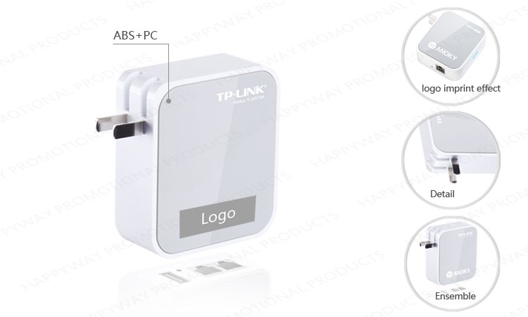Travel Wireless Router 0801004 MOQ 100PCS One Year Quality Warranty