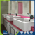 China supplier customized bathroom double sink laminate countertop