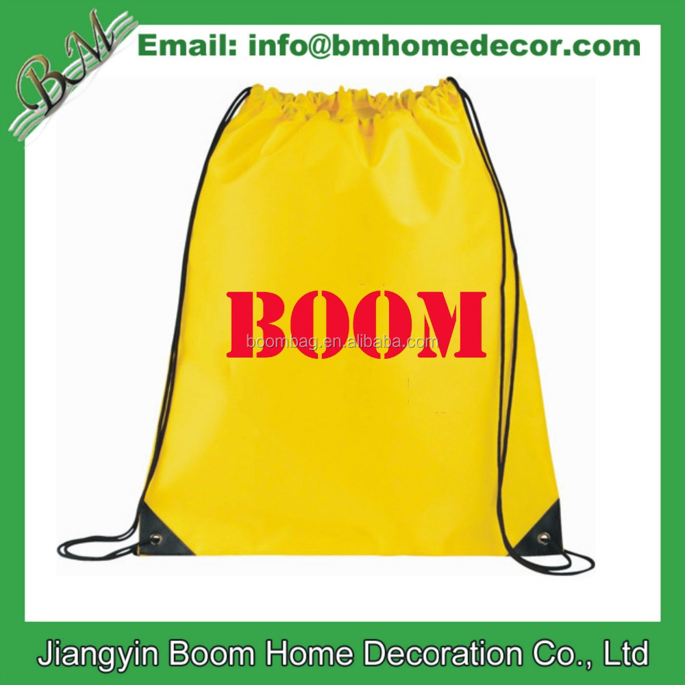 Cheap Promo 210D Polyester Sports Drawstring Backpack