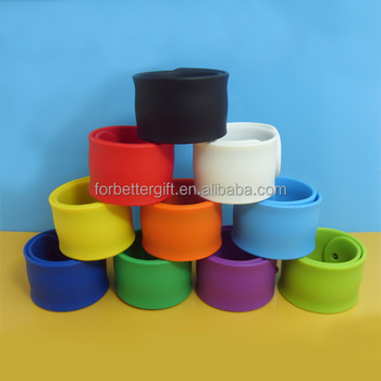 Silicone Slap Wristband/Cheap Colorful Bracelet/Blank Silicone Wristband