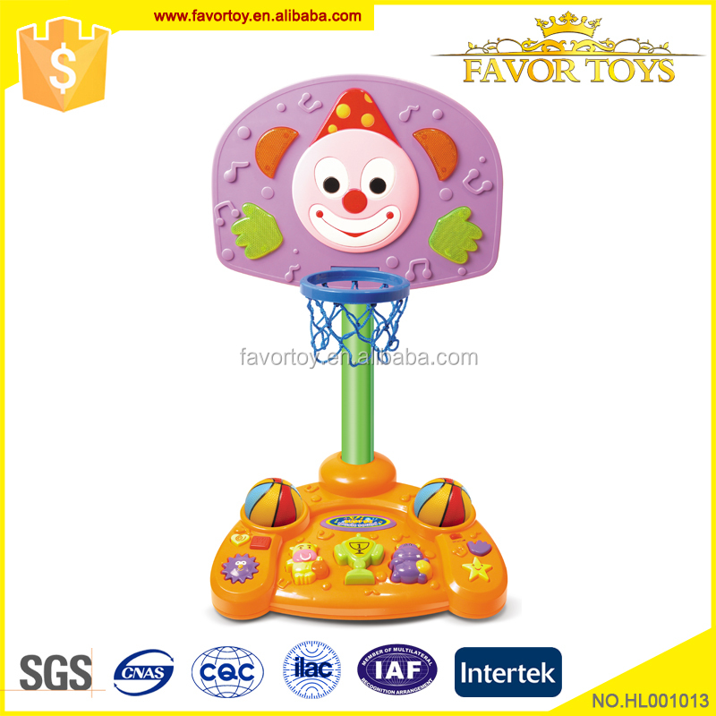 Competitive price light flash sound play children plastic material basketball toy