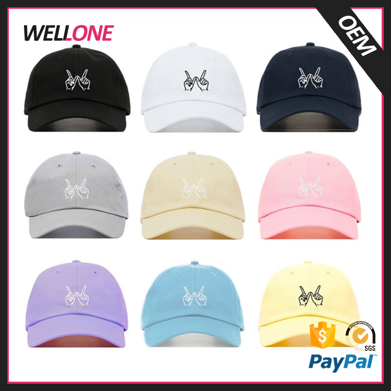 High quality 6-panels 100% cotton unconstructed fashion custom flat embroidery whatever design baseball dad cap men