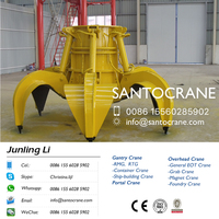 Remote control grab bucket for bulk cargo marine crane port crane