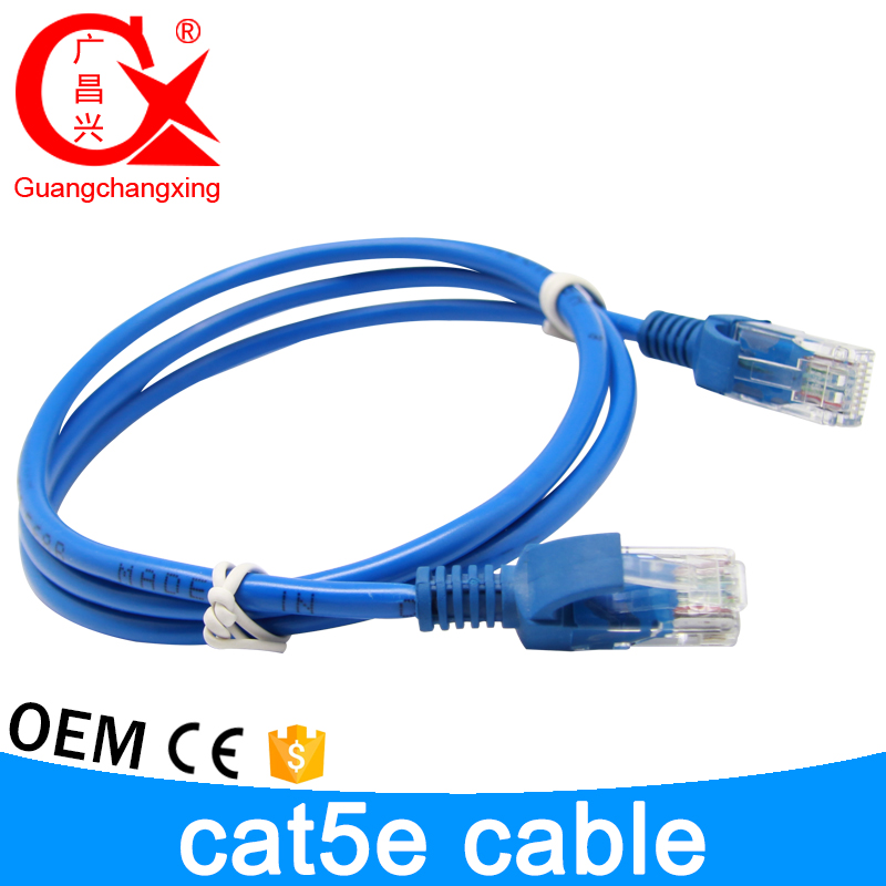 Wholesale best price 20 meter or different length rj45 plug cooper core cat5e outdoor cable