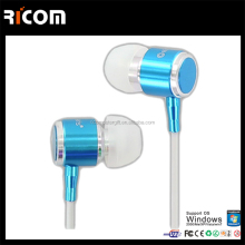 Metal earphones with flat cable,Metal colorful flat cable earphones,Metal fashionable flat cable earphon-EO3007B--Shenzhen Ricom