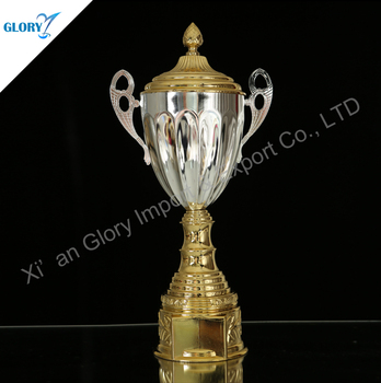 Wholesale Metal Golden Sliver Cover Trophy Cup Award