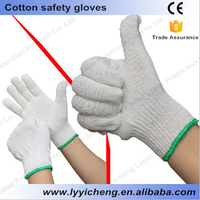 Cotton and nylon string gloves manufactruing repairing sports working safety chemical electronics assembly