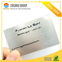 Silver Stainless Steel Metal Business Cards