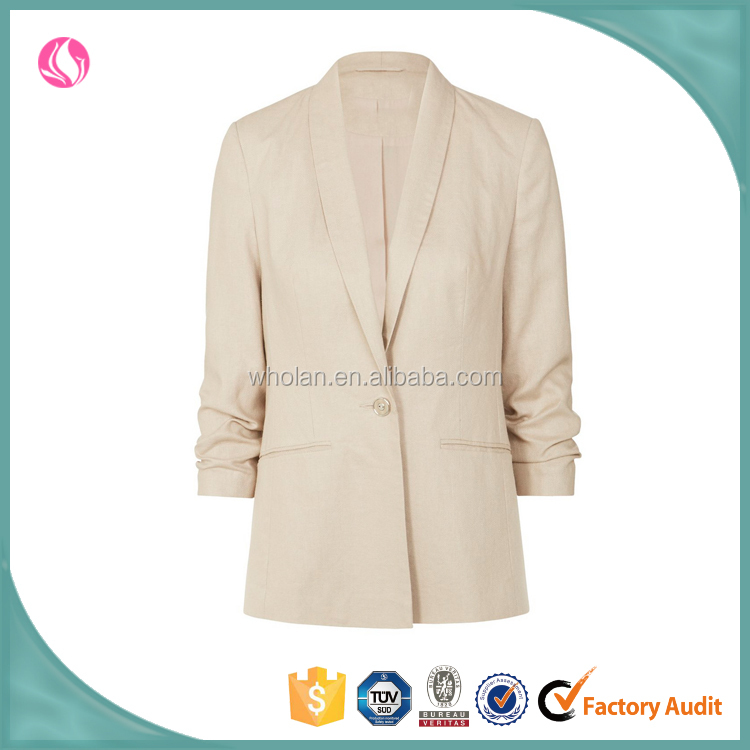 Trade Assurance women clothing munufactuer lady latest formal blazer fancy jacket design