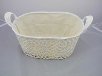 The new cotton by hand hook flower basket