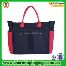 2016 Best Selling Red and Blue Canvas Trendy Diaper Bags