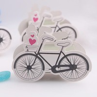 wedding candy box--Popular Sweet party favor Boxes Vintage-Inspired Bicycle Favor Candy Box With Flags 100pcs/lot