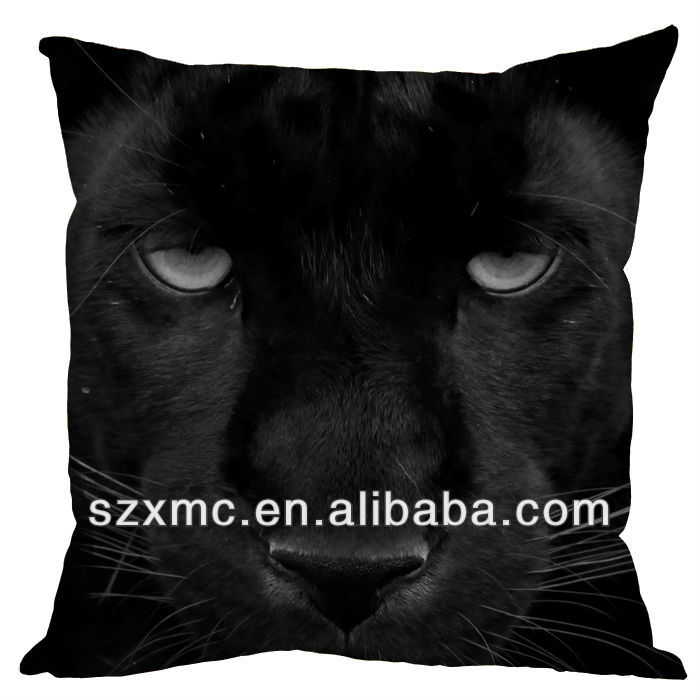 leopard panther face print backrest cushion sofa decorative anime custom design panther cushion