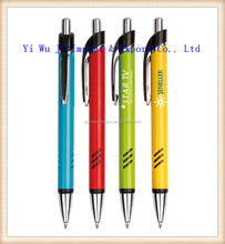 Simple design promotion plastic ball pen, cheap logo print pen