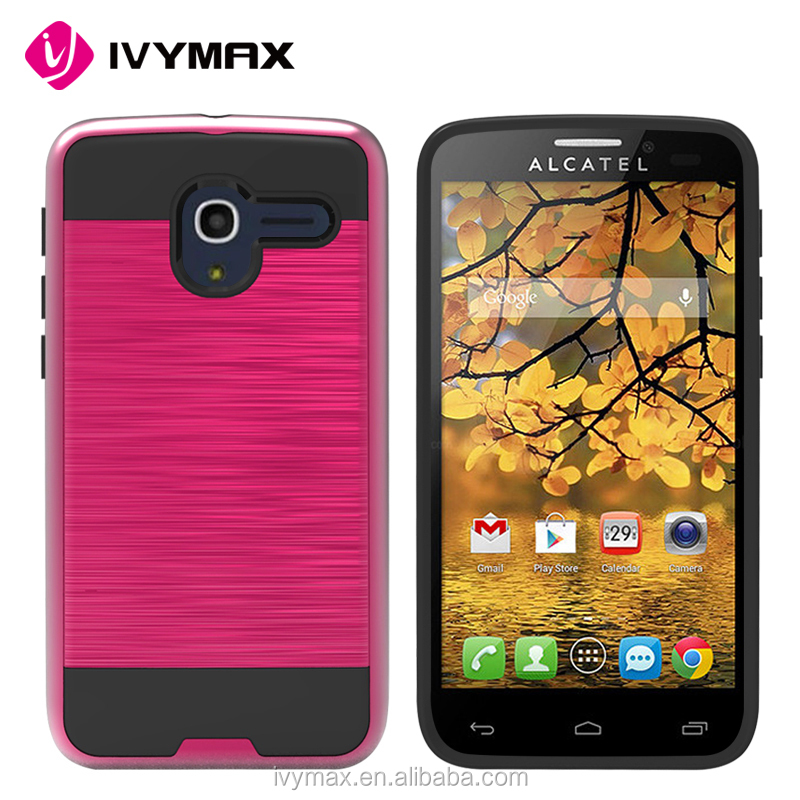 IVYMAX newest mobile accessories protective back cover 2 in 1 phone case for Alcatel stellar