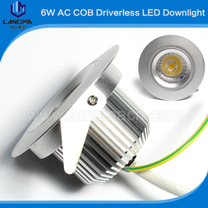 CCT 2600-6500k dimming bright cob 6w led downlight light