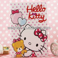 Cute Hug Bear Hello Kitty Pattern Leather Case for Ipad Mini