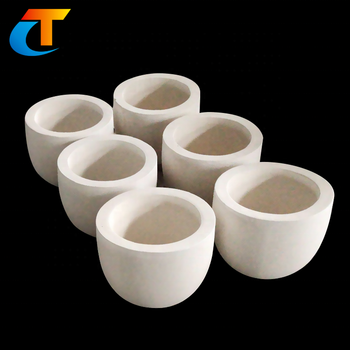 Glass melting refractory clay crucible pot