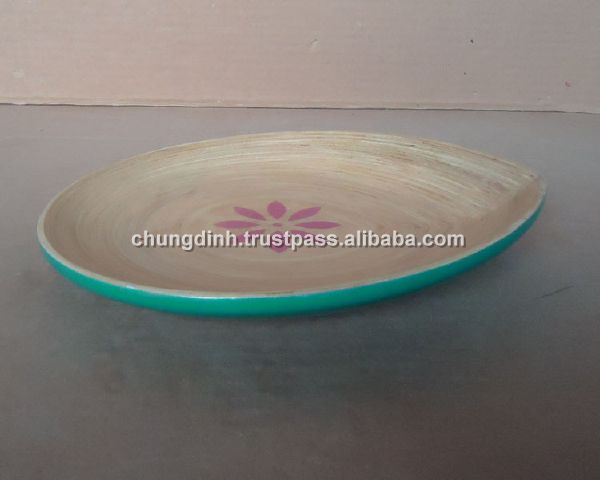 Leaf Shape With Design Flower Tray