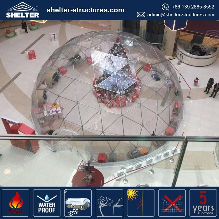 Transparent cover Guangzhou dome house price geodesic mall christmas decorations