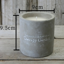 Soy Wax Candle Private Label Scented Candle in CONCRETE Jar