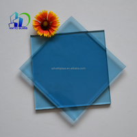 4mm-10mm tempered ford blue lake blue tinted glass for building