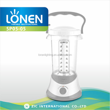 LONEN outdoor power bank battery operated solar LED rechargeable lantern