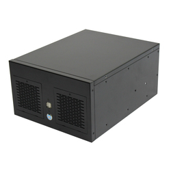 2017 Best Unique Full Tower Horizontal Desktop Computer Custom Aluminum Mini Itx PC Case Without Fan